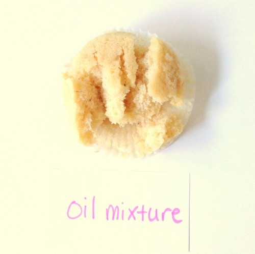 Oil, water, baking powder mixture as an egg substitute in baking