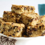 Moist & Chewy Chocolate Chip Blondies -- Vegan & Dairy-free