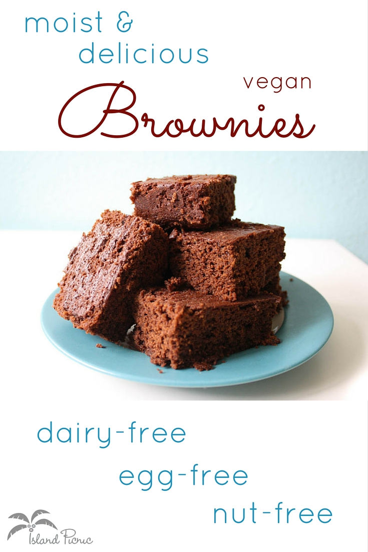Moist & Delicious Vegan Brownies -- Milk-free, egg-free and nut-free