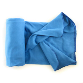 Organic Cotton Swaddle Blanket -- Marine Blue