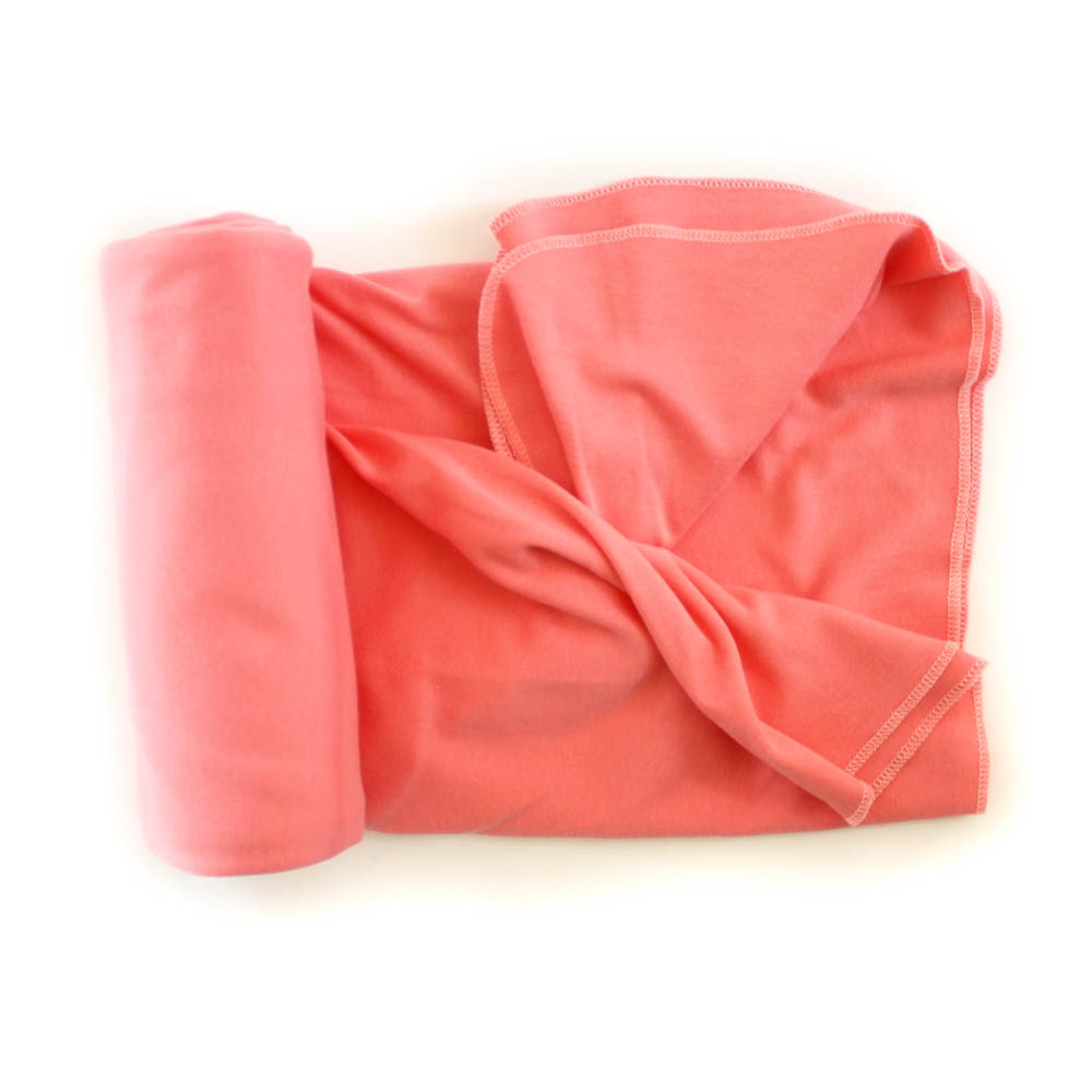 Organic Cotton Swaddle Blanket -- Coral Pink