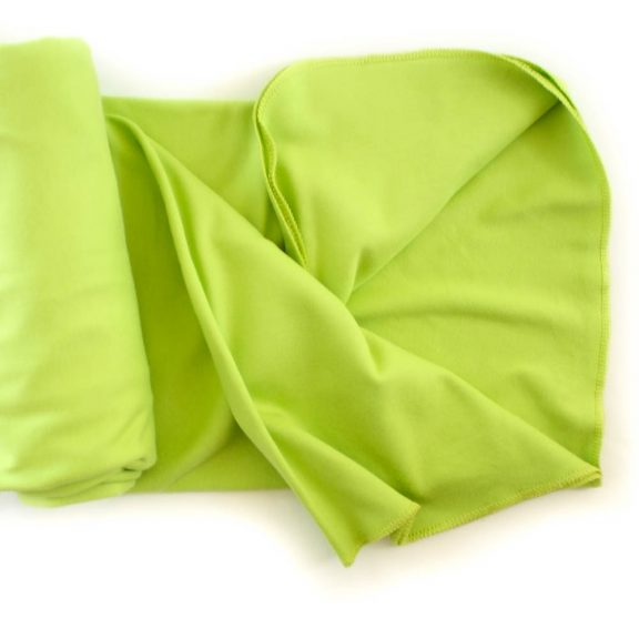 Organic Cotton Swaddle Blanket -- Lime Green