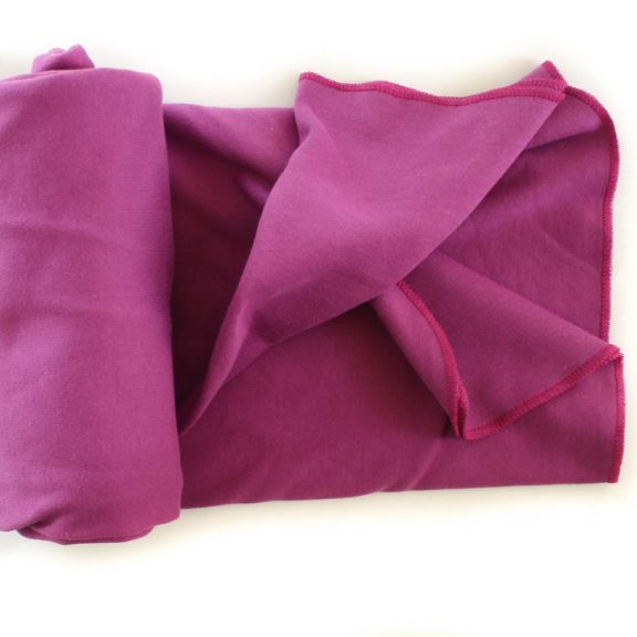 Organic Cotton Swaddle Blanket -- Purple