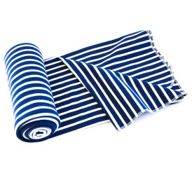Organic Cotton Swaddle Blanket -- Nautical Navy Stripe