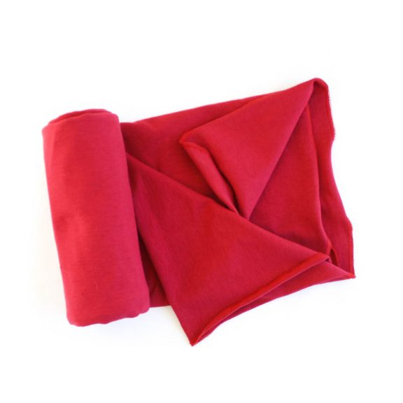 Lightweight Organic Cotton Swaddle Blanket -- Red
