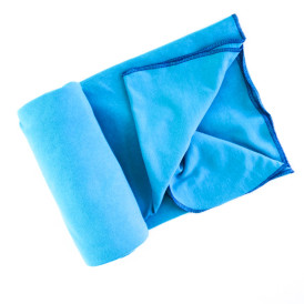 Lightweight Organic Cotton Swaddle Blanket -- Bright Blue