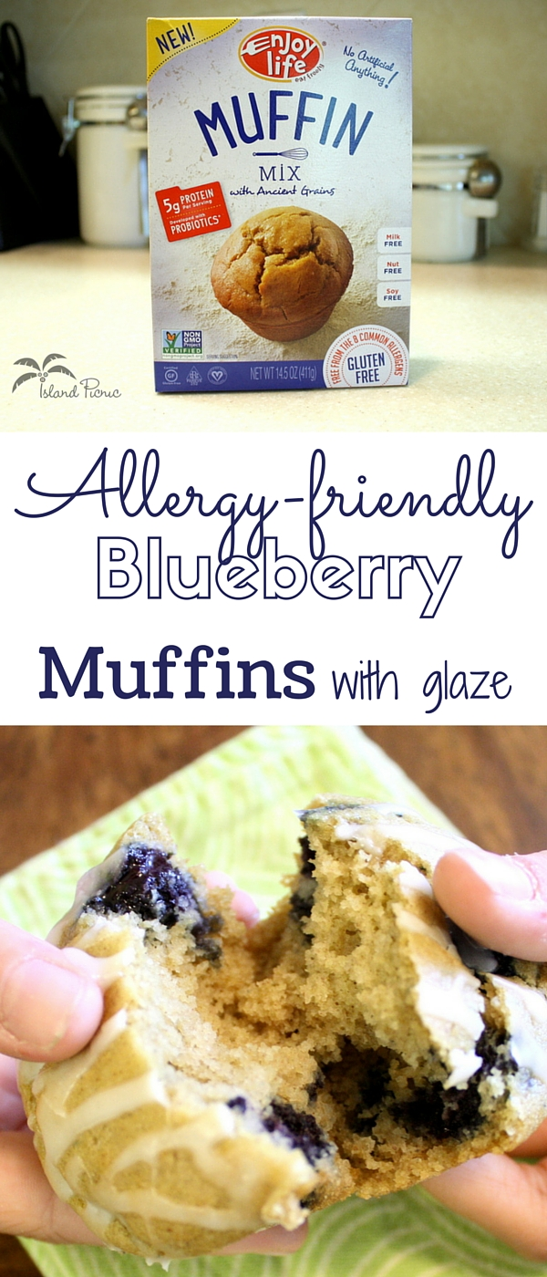Allergy-friendly Blueberry Muffins with Glaze