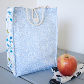Organic Cotton Lunch Bag -- Blue Morning Dew