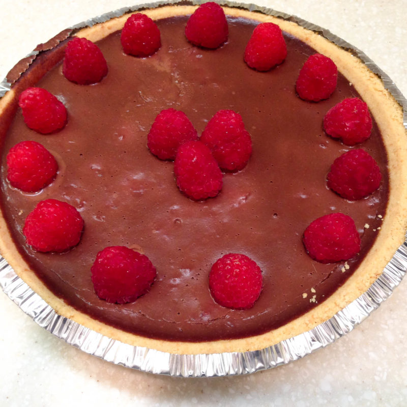 Vegan Chocolate Raspberry Pie