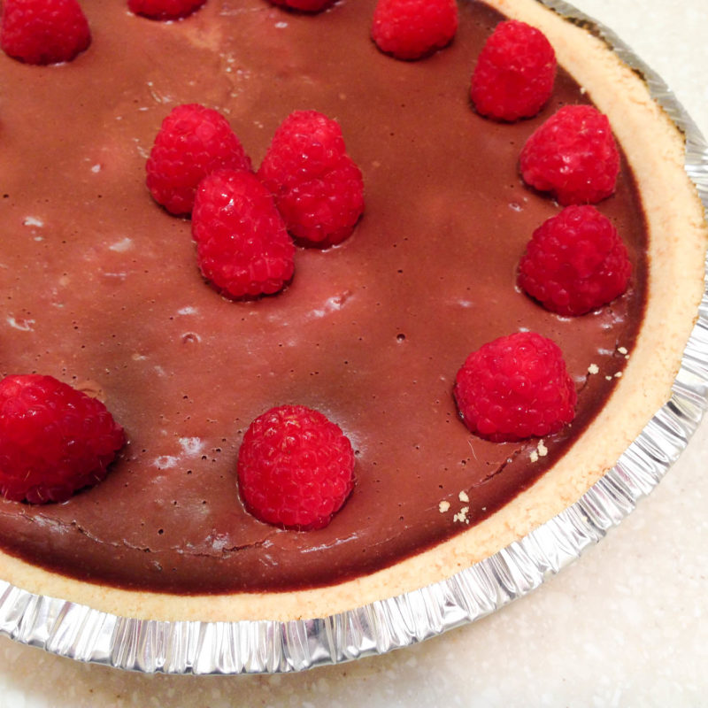 Vegan Chocolate Raspberry Pie-5