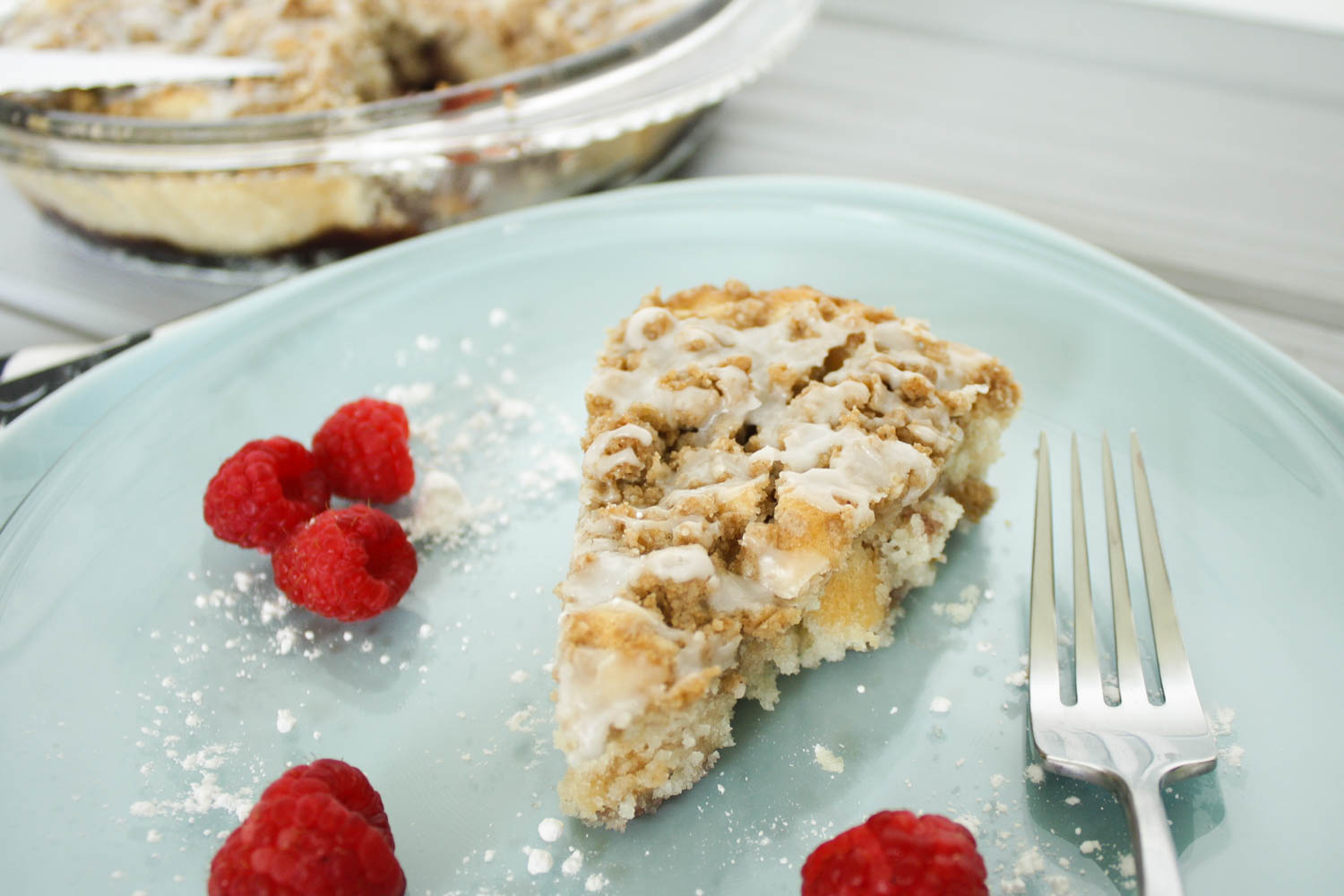Vegan Raspberry Coffee Cake