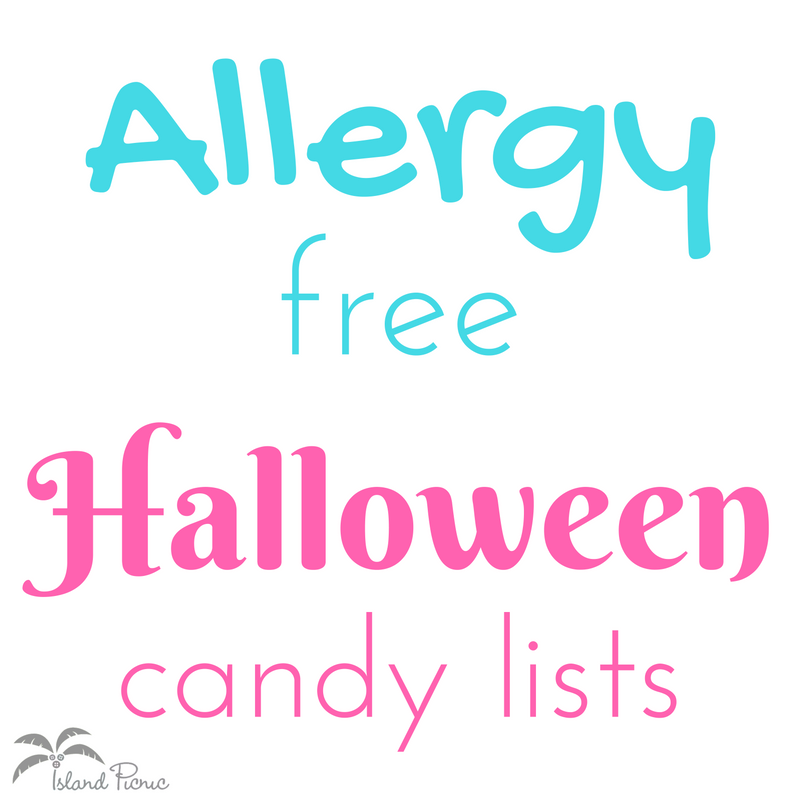 Allergy-free Halloween Candy Lists