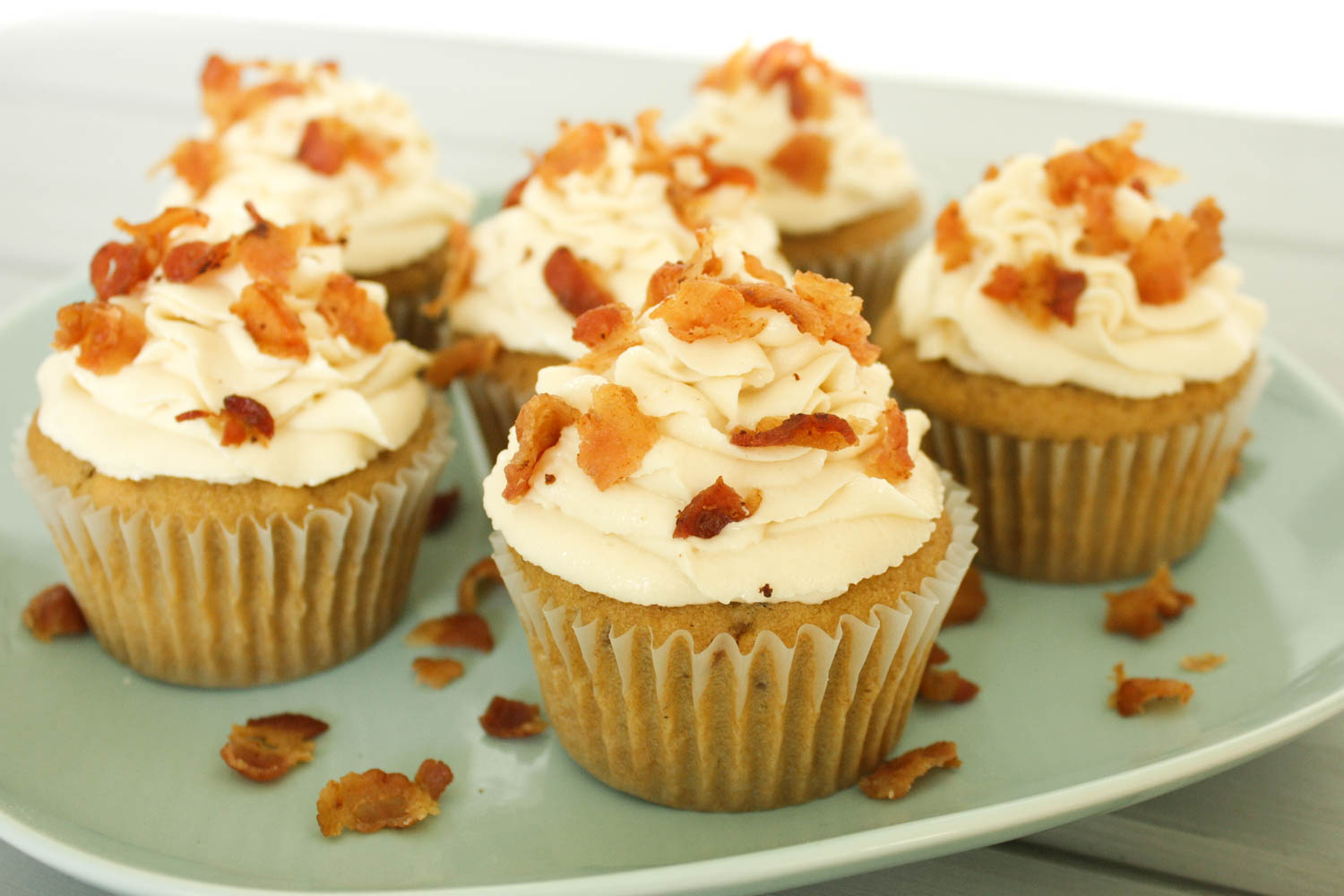 Maple Bacon Cupcakes -- Dairy and Egg-Free