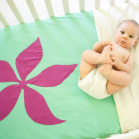 Organic Cotton Baby Blanket - Flower