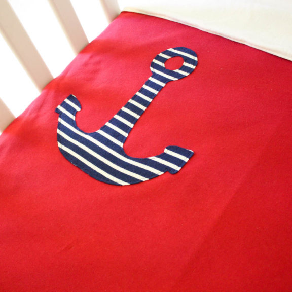 Organic Cotton Baby Blanket - Anchor