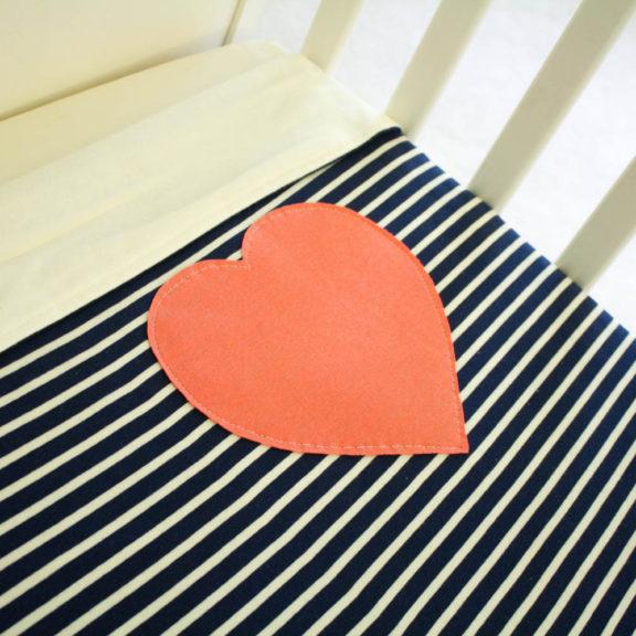 Organic Cotton Baby Blanket - Heart