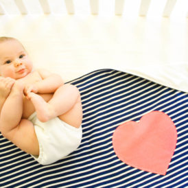 Organic Cotton Baby Blanket - Heart