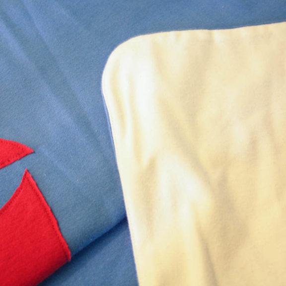 Organic Cotton Baby Blanket - Sailboat
