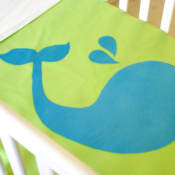 Organic Cotton Baby Blanket - Whale