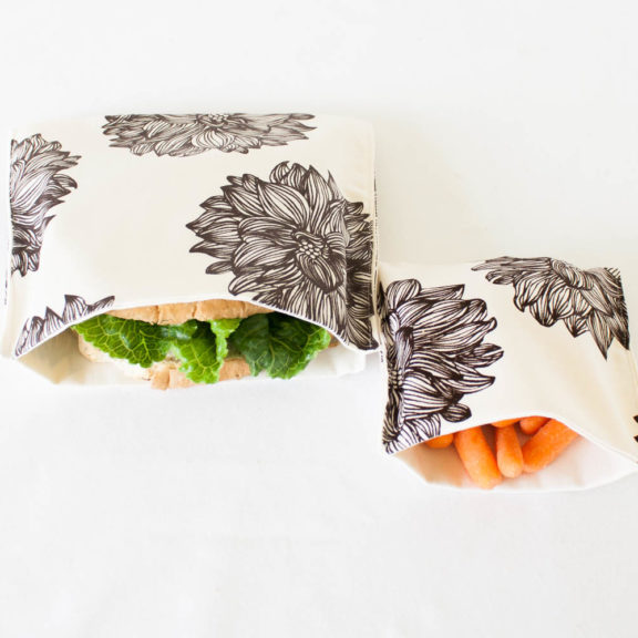 Brown Flowers Organic Sandwich & Snack Bags